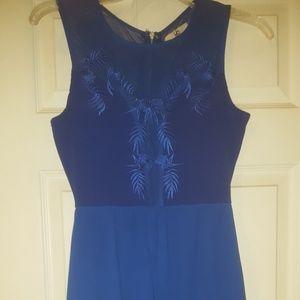 High-low royal blue dress